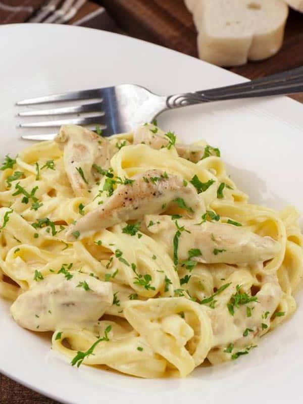 5 ingredient pasta alfredo