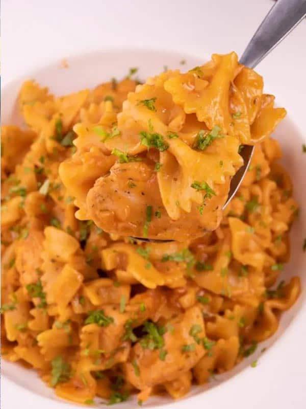 easy chicken parmesan pasta