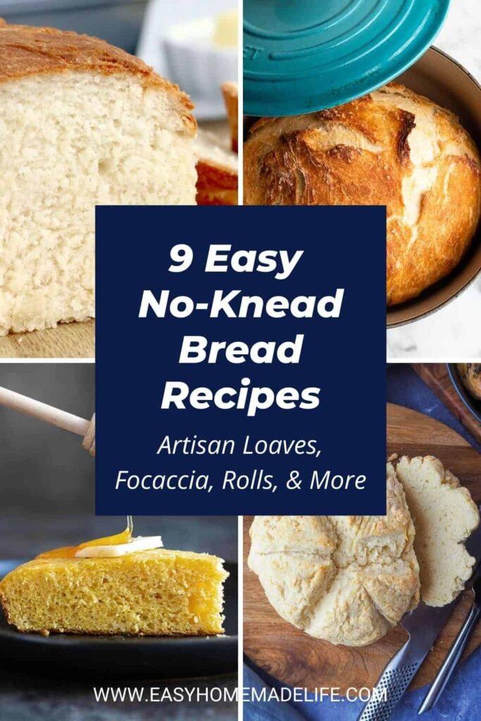 Easy No-Knead Bread Recipes