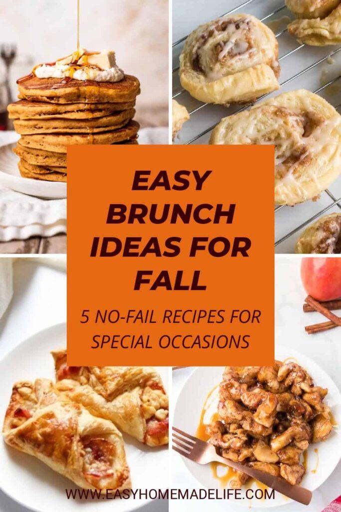 5 Super Easy Brunch Ideas for Fall
