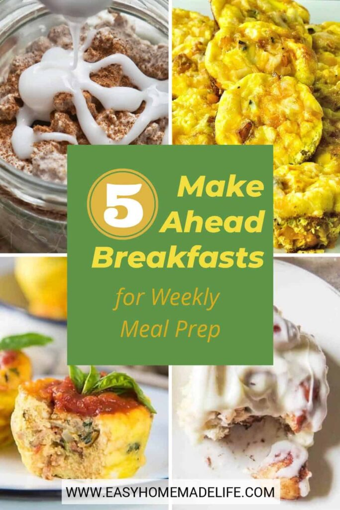 Take a shortcut in your morning routine with these easy make-ahead breakfasts! They are way better than a quick bowl of cold cereal and healthier for you too. Use these recipes to save time during the week and stay composed amidst the flurry of your morning rush.
