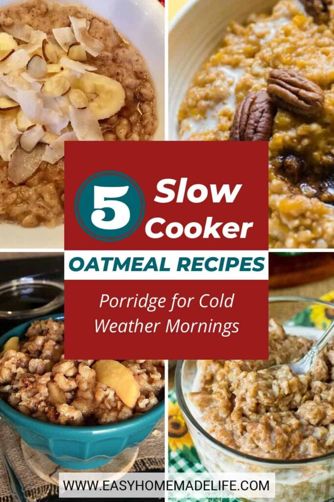 These slow cooker oatmeal recipes are as easy as they are tasty! Breakfast becomes almost effortless when the slow cooker makes the meal for you. Fill your home with a delicious aroma of homemade cooking without needing to stand by in the kitchen - what a great way to wake up and start the day.