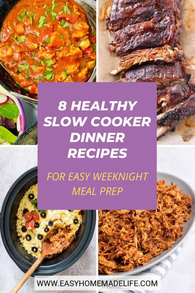 Perfect your weeknight meal prep routine with these healthy slow cooker dinner recipes! Using a slow cooker to do your heavy lifting in the kitchen is ideal for busy weeks and cold weather. It's such a pleasure to walk into the kitchen and be greeted by a bubbling pot of hot, homemade comfort food!