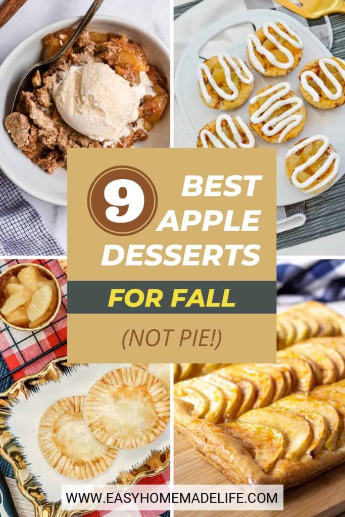 Are you ready for the best apple desserts for fall? These are the perfect recipes when you want an apple pie without the fuss of making it from scratch. They are all quick and easy, tossed together with minimal ingredients you probably already have in your pantry!